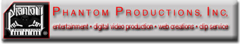 picture of Phantom Productions' logo and services