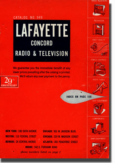 picture of 1950 Lafayette Radio catalog