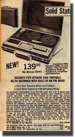 picture of recorders for sale in the 1968 Lafayette Radio catalog