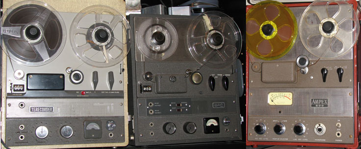Akai, Roberts & Ampex comparison in the Museum of MAgnetic Sound Recording