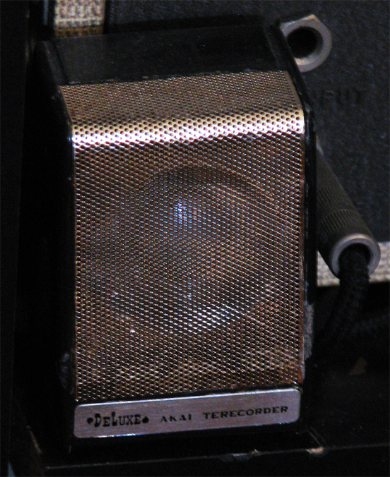 Akai Terecorder microphone in Reel2ReelTexas.com's vintage microphone and recording equipment collection