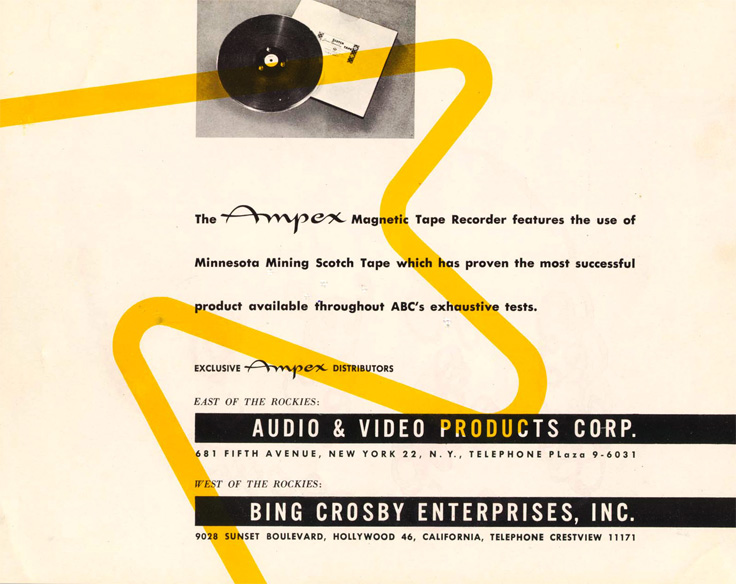 Page 8 of the 1947-1948 Ampex 200 professional reel to reel tape recorder brochure in   Reel2ReelTexas.com's vintage recording collection
