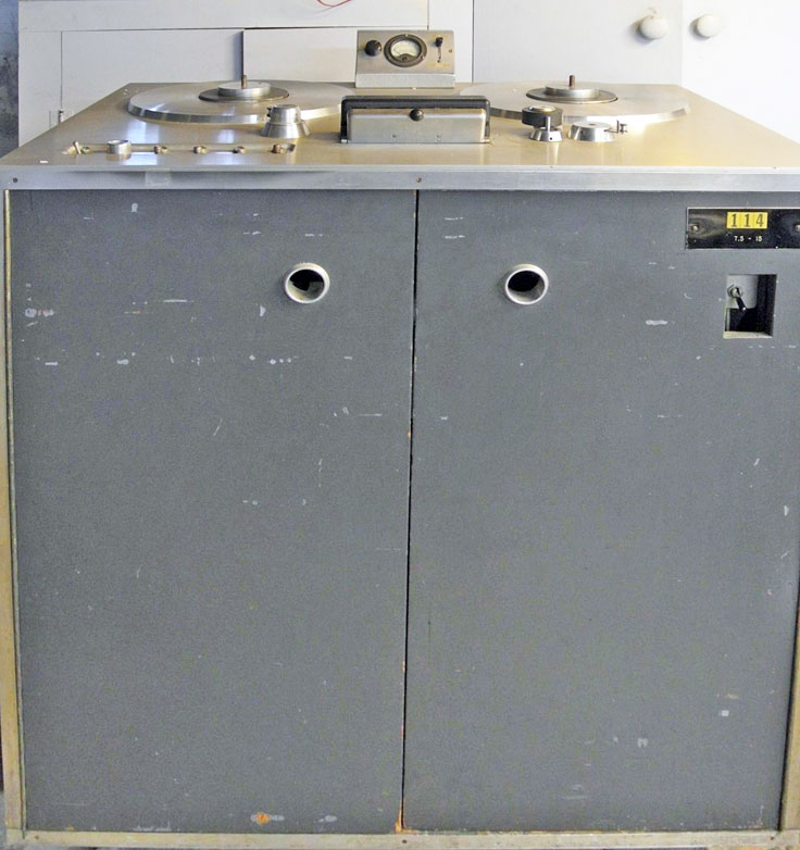 Ampex 201 professional reel to reel tape recorder in the Reel2ReelTexas vintage recording collection