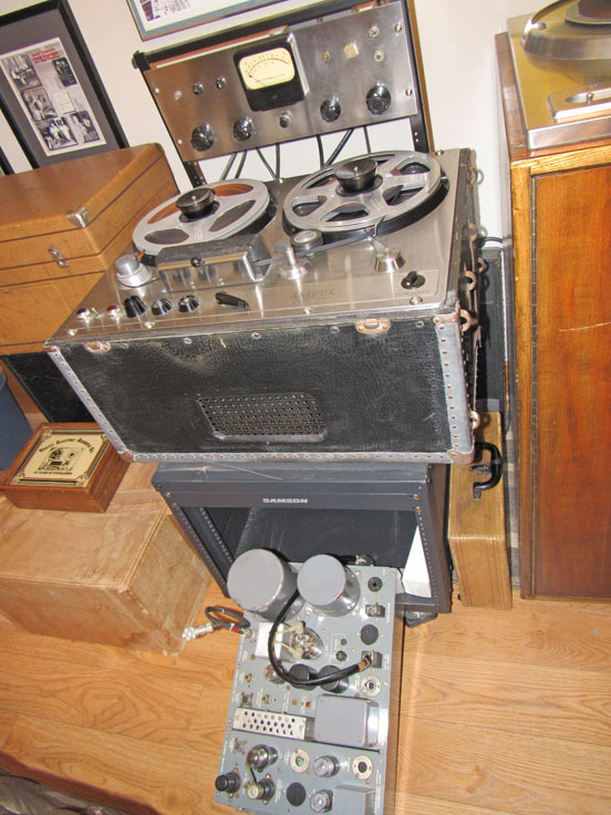 Restored Ampex 300 oiginal amplifier in the Reel2ReelTexas.com vintage reel tape recorder collection