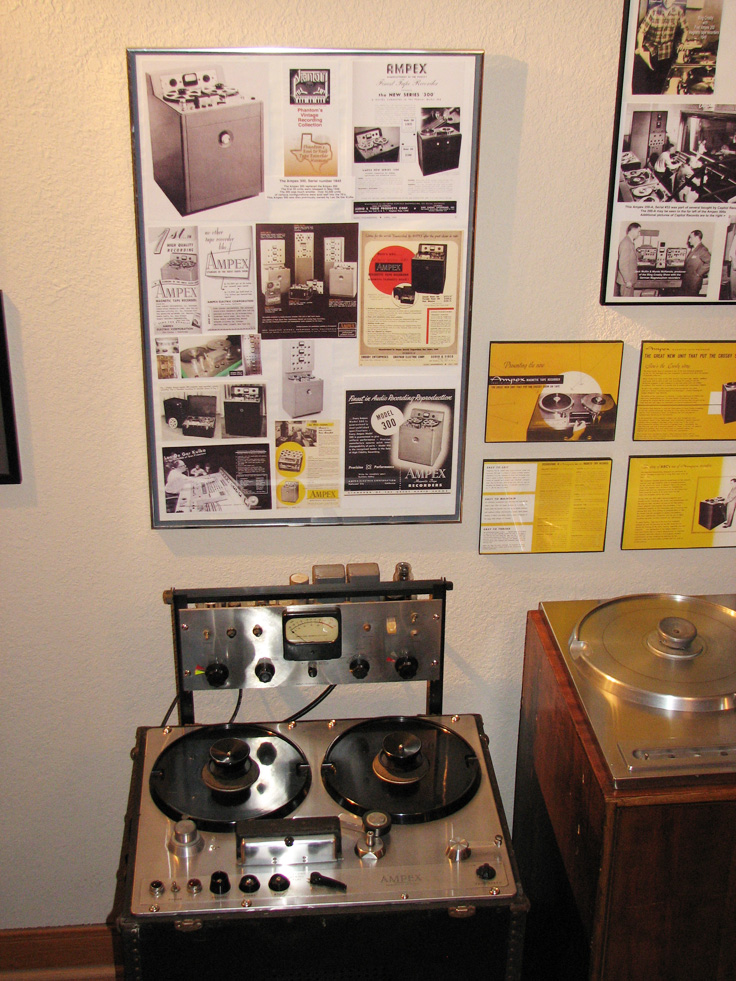 Phantom Productions, Inc.'s Ampex 300 on display at the Phantom studio