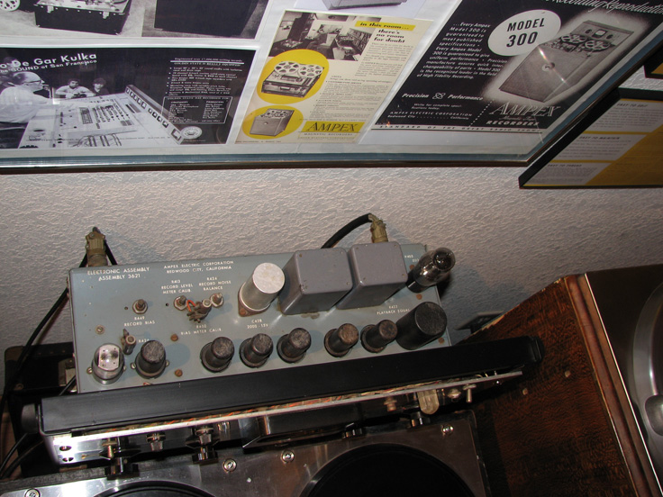 Phantom Productions, Inc.'s Ampex 300 electronics on display at the Phantom studio