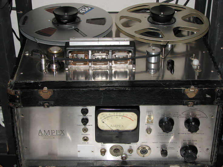 Ampex 400 reel tape recorder in the Reel2ReelTexas.com vintage reel tape recorder collection