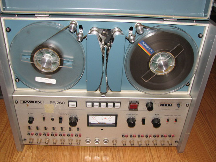 Ampex PR260 instrumentation reel to reel tape recorder in the Reel2ReelTexas.com's vintage recording collection
