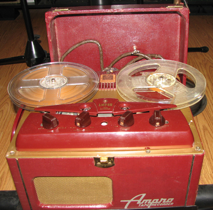 1951 Ampro 731 reel to reel tape recorder in Reel2ReelTexas.com's vintage recording collection