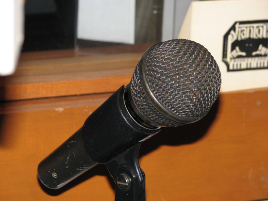 Audio Technica AT818 microphone in Museum of Magnetic Sound Recording's vintage recording collection