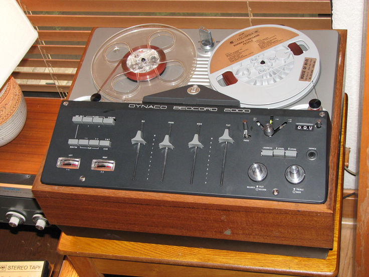 Bang & Olufsen Dynaco Beocord 2000 reel to reel tape recorder in the Reel2ReelTexas.com's vintage recording collection