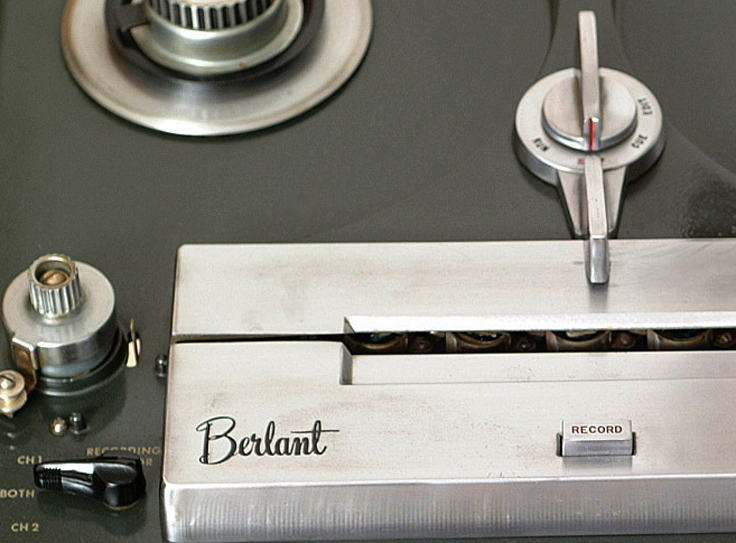 Berlant professional reel to reel tape recorder in the Museum of magnetic Sound Recording