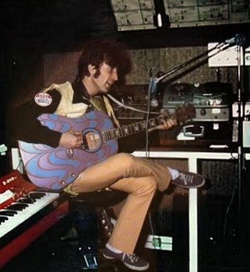 John Lennon recording in his home studio using the Brenell Mark 5 S