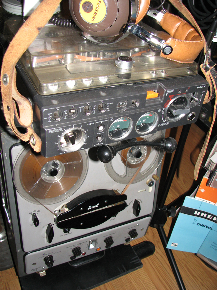 Brenell reel to reel tape recorder in PhantomProductions' vintage recording collection