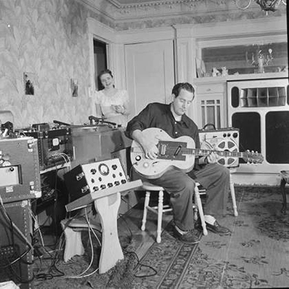Les Paul and Mary Ford with Ampex 400s and a Concertone 1401
