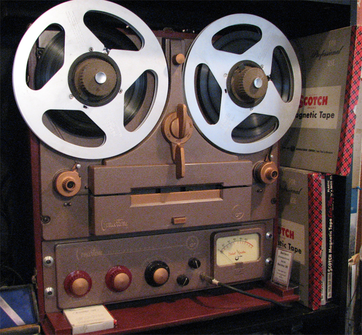Concertone 20/20 tape recorder in Reel2ReelTexas.com vintage tape recorder collection
