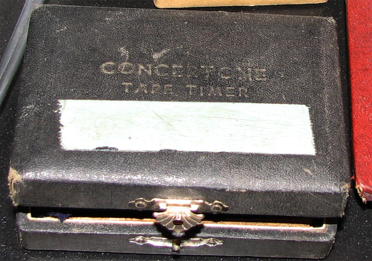 Concertone Tape Timer in wooden box in Reel2ReelTexas.com's vintage recording collection