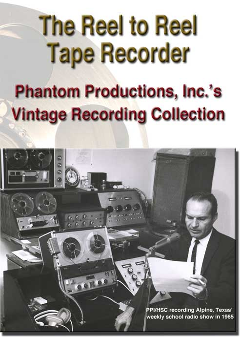 cover of 5 hour 2 DVD set released about the Phantom Productions' vintage tape recording collection