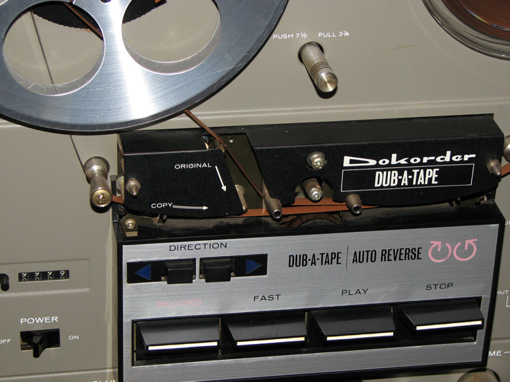 Dokorder 8020 Dub A Tape reel to reel tape recorder showing double tape path  in Reel2ReelTexas' vintage recording collection
