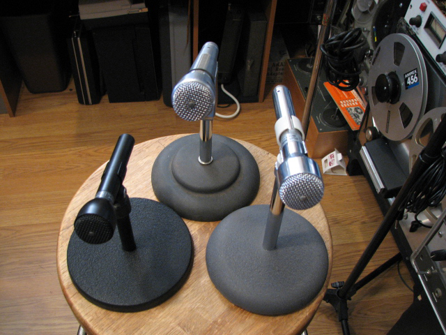 Electro Voice 631 with the EV 635 and EV 661 microphones in   Phantom Productions vintage microphone and recording equipment collection