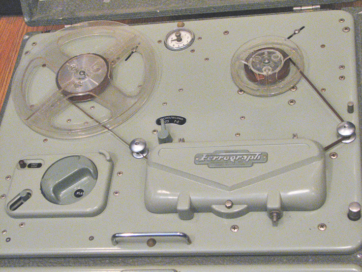 1959 British Ferrograph 4A reel to reel tape recorder in the Reel2ReelTexas.com's vintage recording collection
