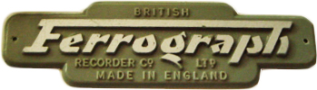 Ferrograph logo in the Museum of magnetic Sound Recording