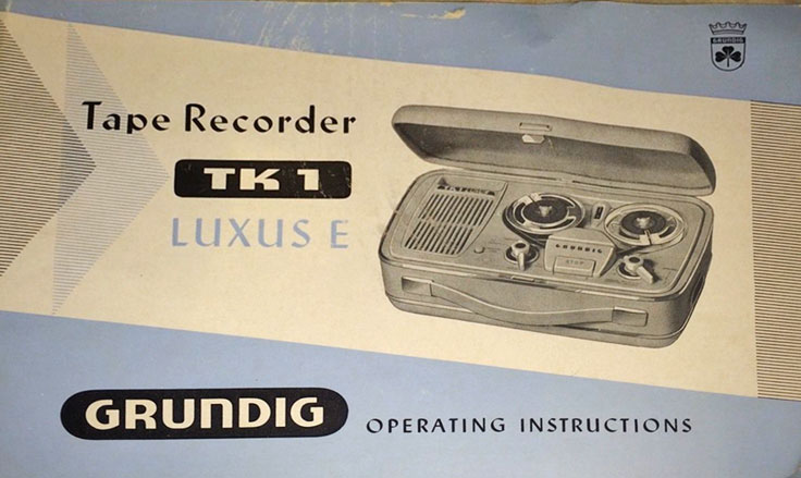 German Grundig TK-1  reel to reel tape recorder in the Reel2ReelTexas.com vintage recording collection