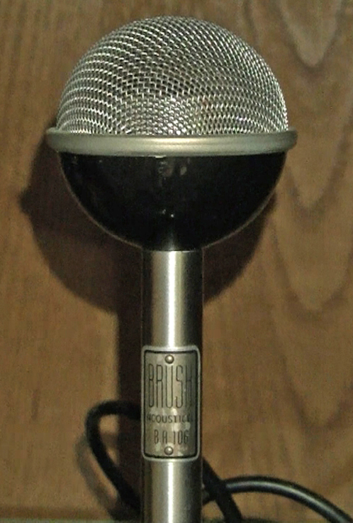 Brush BA 106 microphone in Reel2ReelTexas.com's vintage recording collection