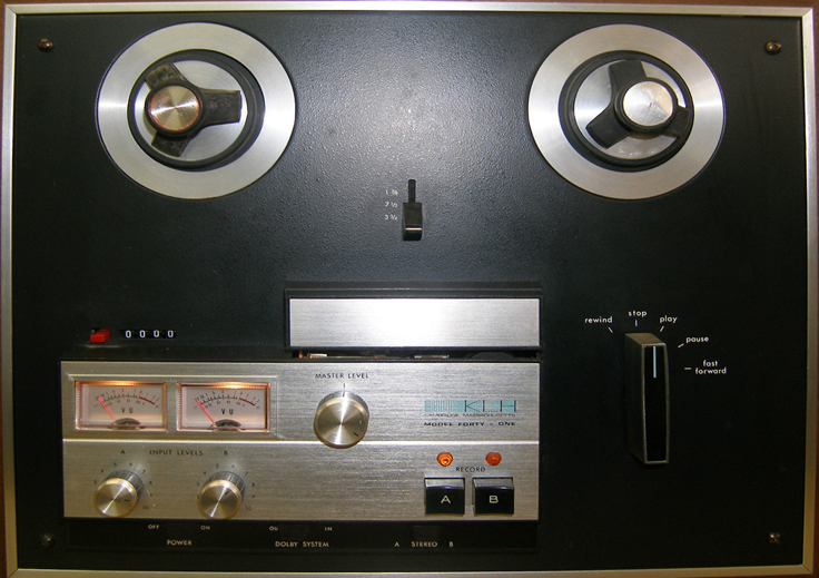 KLH Model 41 reel to reel tape recorder photo in the Museum of Magnetic Sound Recording