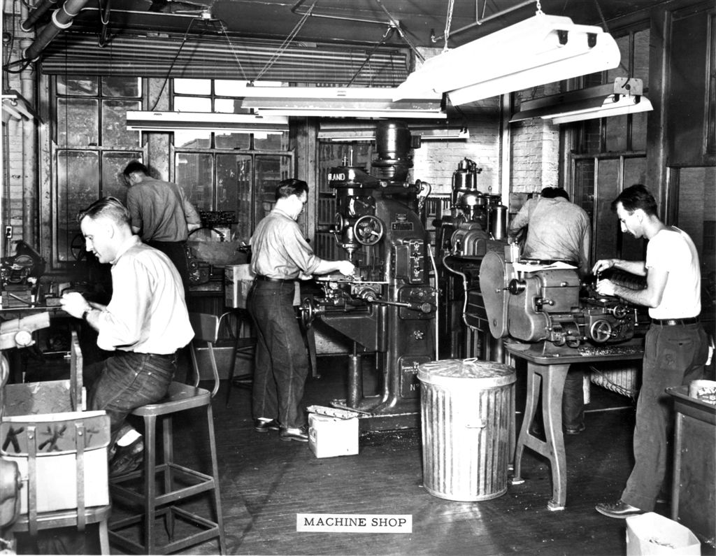 Early photos of the Magnecord, Inc. factory - photos provided by Dave Boyers via Chris at Preservation Sound