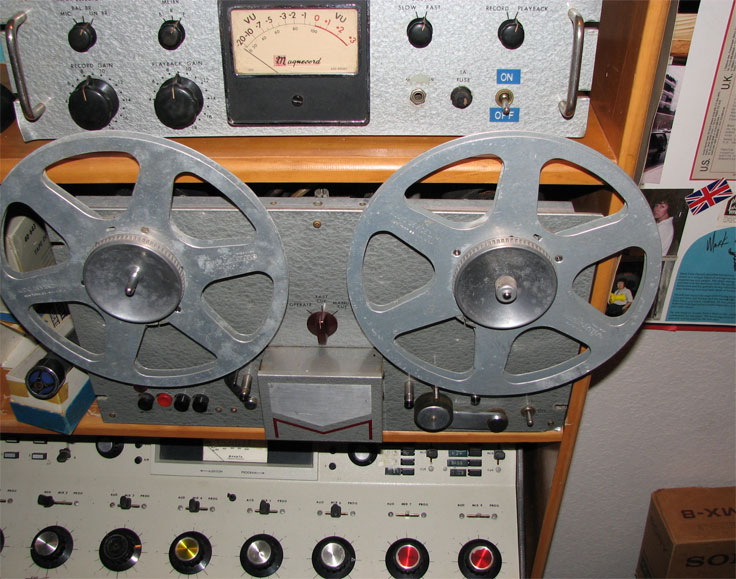 1956 Magnecord P63 pro reel tape recorder in the Reel2ReelTexas.com vintage recording collection