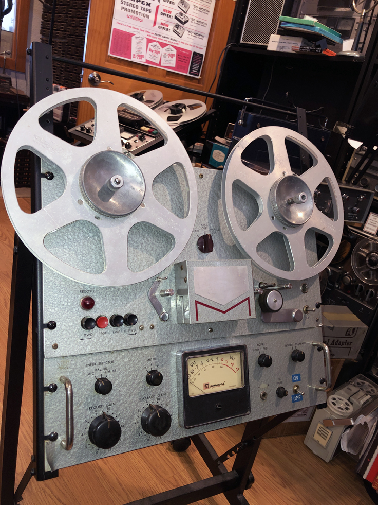 1956 Magnecord P63  pro reel tape recorder with P60 preamp in the Reel2ReelTexas.com vintage recording collection