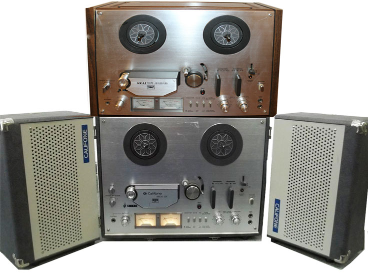 Akai and Califone units