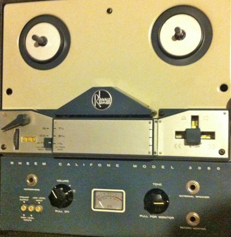 Rheem Califone Reel to reel tape recorder