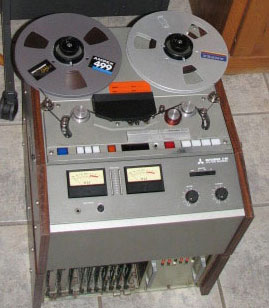 Mitsubitshi X-80 digital professional reel to reel tape recorder the Reel2ReelTexas collection