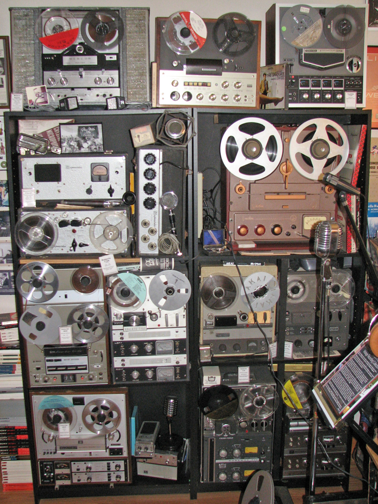 Phantom Productions' North wall in vintage recording museum