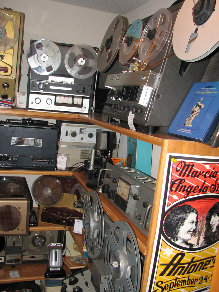 Phantom Productions' museum on April 11, 2013 showing the Bell, MAgnecord and other reel to reel tape recorders