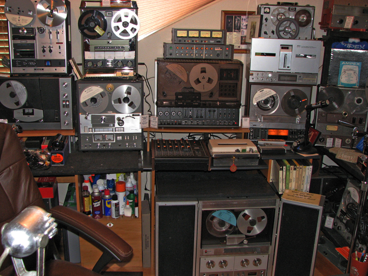 Phantom Productions vintage recording myuseum South wall