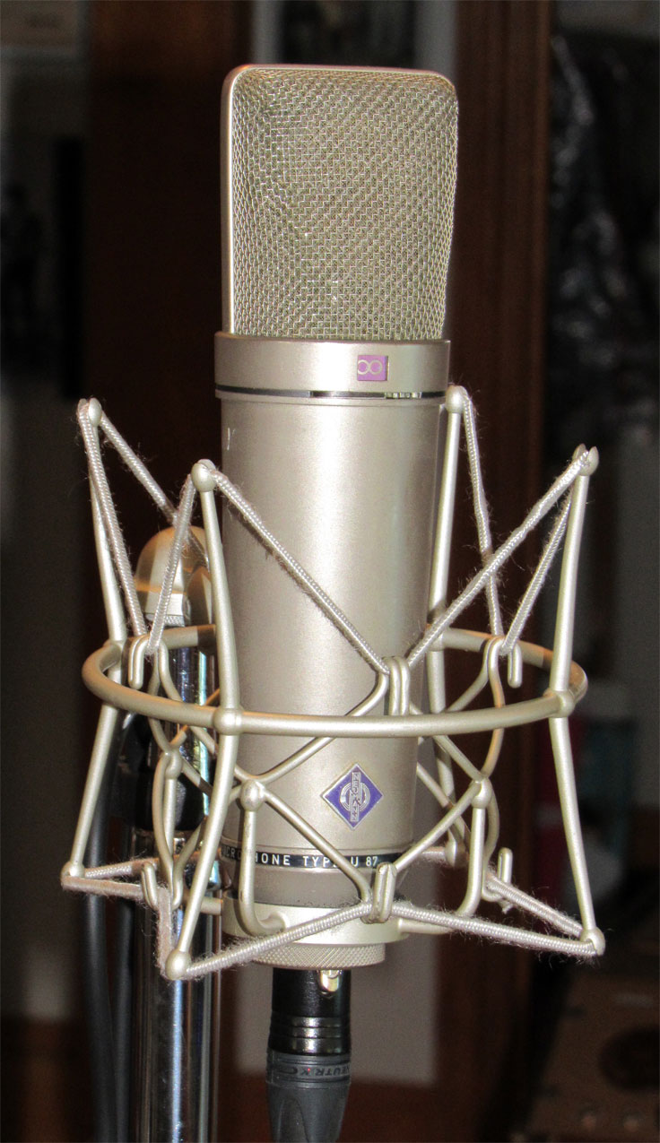 Neumann U87 microphone in the Reel2ReelTexas.com vintage microphone and recording equipment collection
