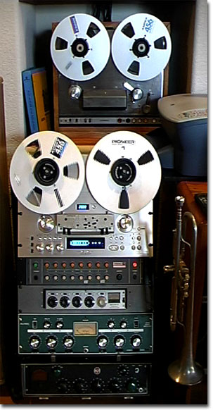 picture of Pioneer Rt901 with Ampex AG445B reel tape recorder