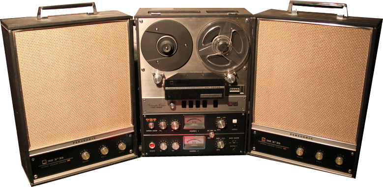 Panasonic RS-1000 reel to reel tape recorder photo in the Museum of Magnetic Sound Recording