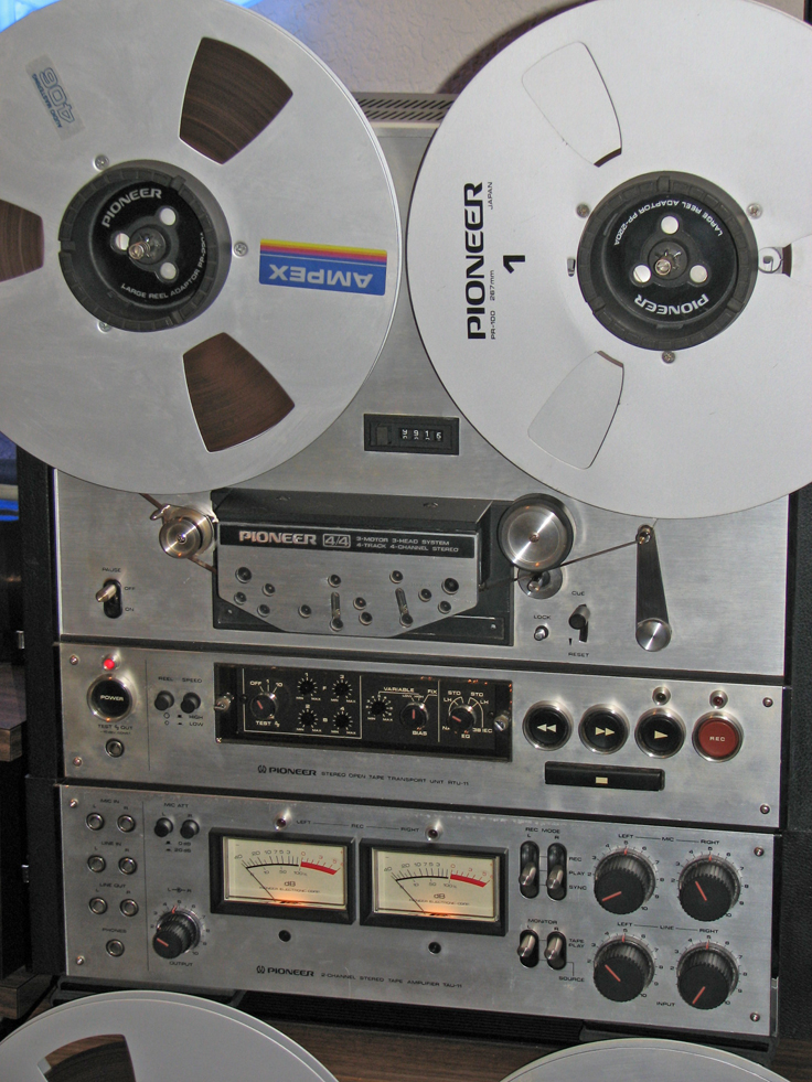 Pioneer RT-2044 reel to reel tape recorder in   Phantom Productions' vintage recording collection