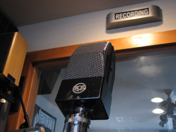 RCA 74B  Junior Velocity microphone in Reel2ReelTexas.com's vintage microphone and recording equipment collection