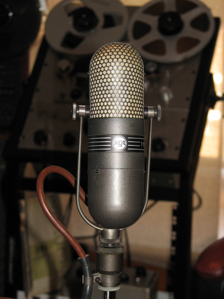 RCA 77DX microphone in Reel2ReelTexas.com's vintage microphone and recording equipment collection