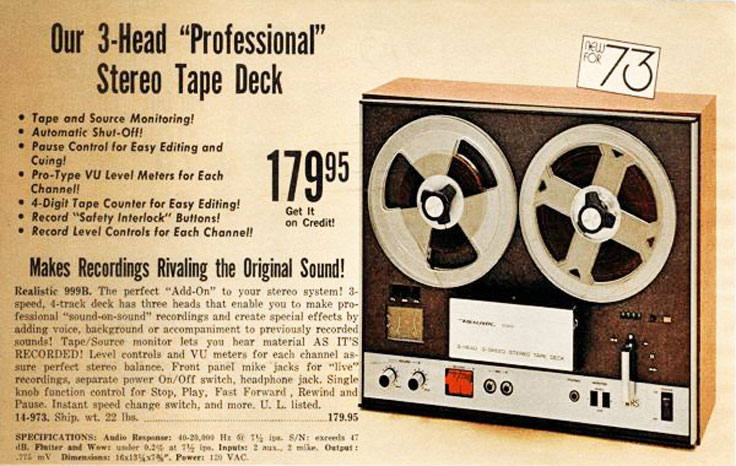 Radio Shack Realistc 999B reel to reel tape rcorder in   Reel2ReelTexas.com's vintage recording collection