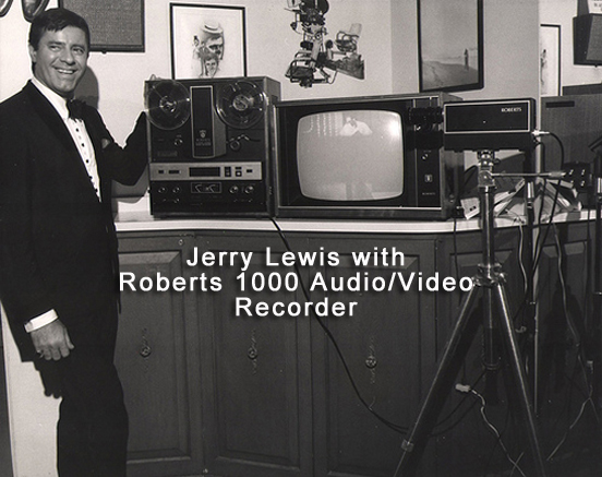 "Jerry Lewis with Rheem Roberts 1000 1/4"" audio video recorder from 1969"