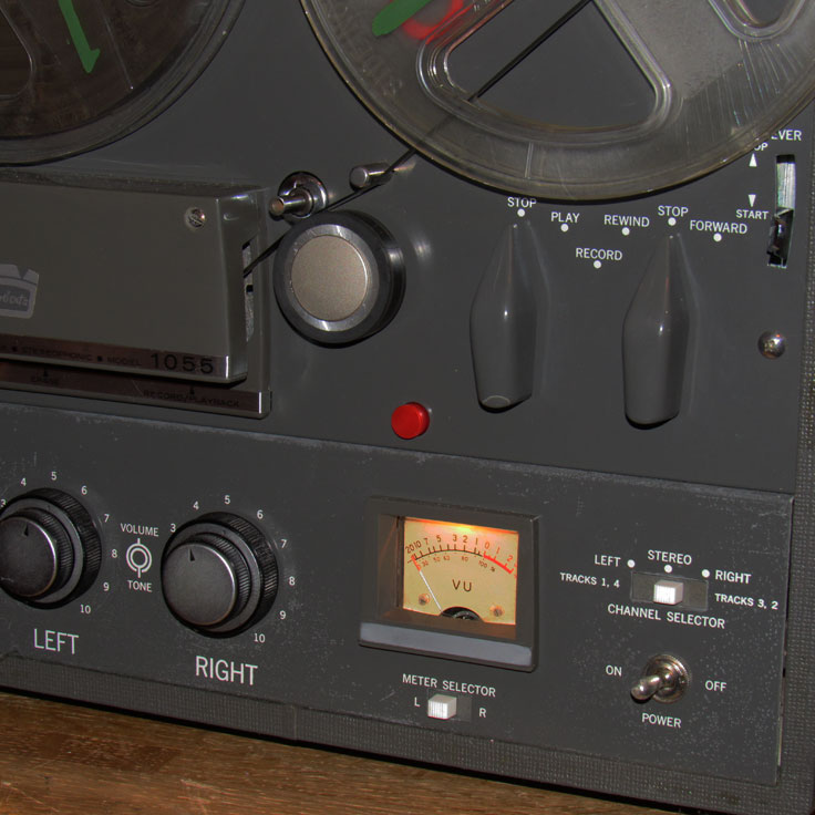 1964  Roberts 1055 reel tape recorder in the Reel2ReelTexas.com vintage recording collection