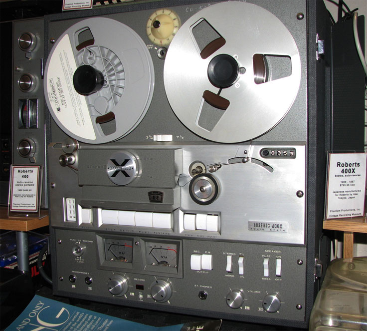 Roberts 400X in the Museum of Magnetic Sound Recording