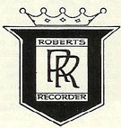 Roberts Recorder logo in the Museum of Magnetic Sound Recording