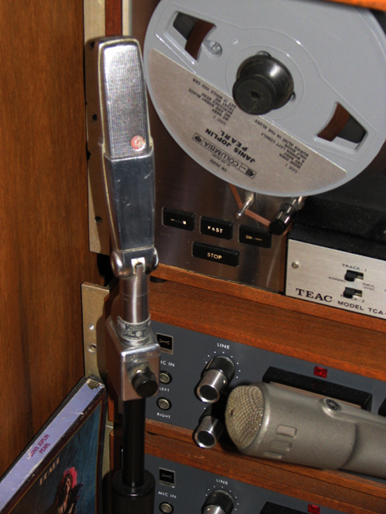 Shure 315 microphone in Reel2ReelTexas.com's vintage recording collection